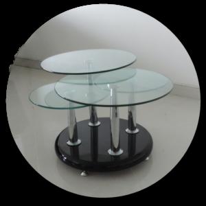 mesa de centro K88 negra