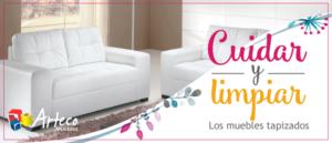 Cuidar y limpiar los muebles tapizados.