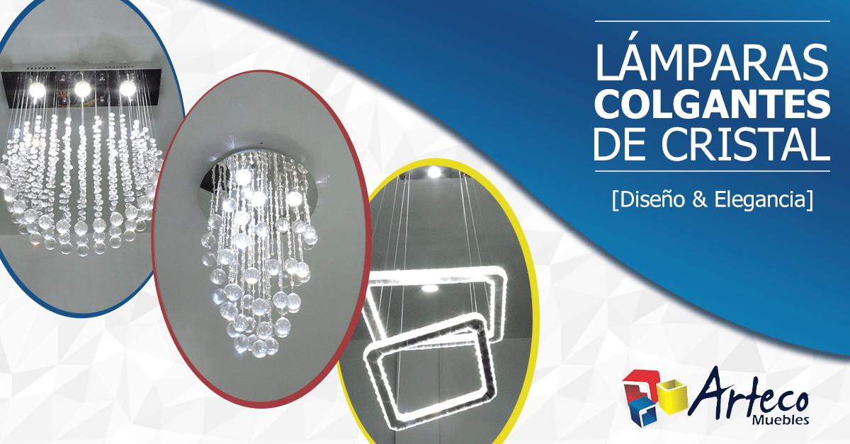 Lámparas colgantes de cristal. Diseño y Elegancia